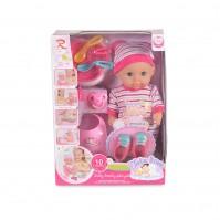 Кукла 31cm пишкаща шарена 8261