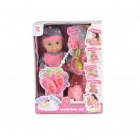 Кукла 36cm пишкаща сива шапка 8652