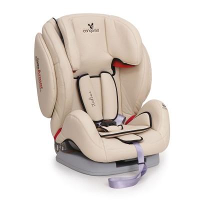Стол за кола 9-36кг Zodiac с позиции на наклон - бежова кожа