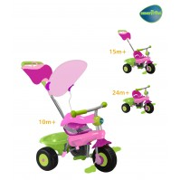 Smart Trike - Триколка 3 в 1 Канди/Candy - зелено розова