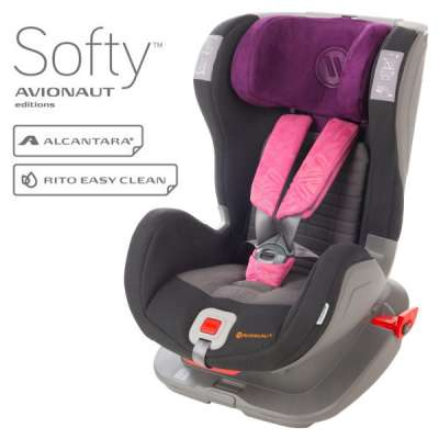 Стол за кола Avionaut Glider Softy F.03 черно и розово