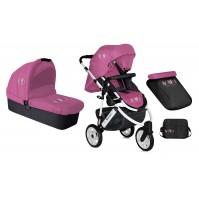 Комбинирана детска количка Monza 2в1 Lorelli с въздушни гуми - Rose&Black