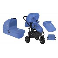 Комбинирана детска количка Monza 2в1 Lorelli с въздушни гуми - Blue