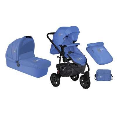 Комбинирана детска количка Monza 2в1 Lorelli с въздушни гуми - Blue 10020791503