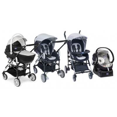 Chicco Trio Living Auto-fix Romantic комбинирана бебешка количка