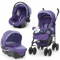 CHICCO TRIO ENJOY FUN 2012 Purple gem комбинирана бебешка количка