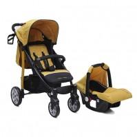Kомбинирана детска количка Arrow 2 в 1 - цвят горчица
