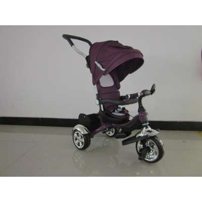 Детска триколка Lexus Vip Plus 3в1 с меки гуми - лилава KR05