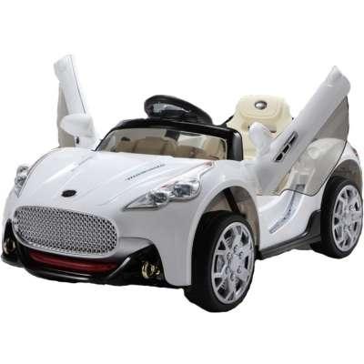 Акумулаторна кола с меки гуми Maserati 12V - бяла JJ108