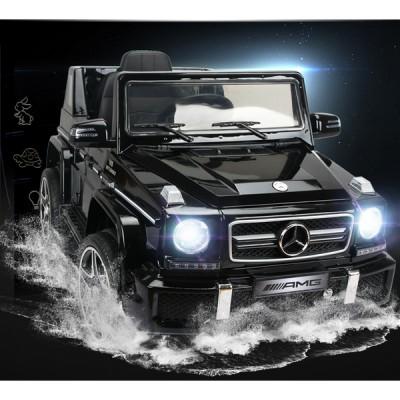 Акумулаторен джип Mercedes Benz G63 с меки гуми - металик черен 263 G63