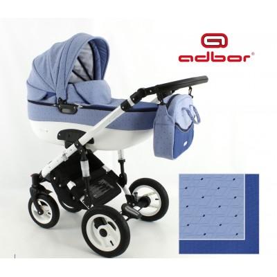 Бебешка количка Adbor 3в1 Zarra NEW - цвят син 30141 - 19