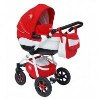 Бебешка количка Gusio Maseratti 2в1 - цвят червен
