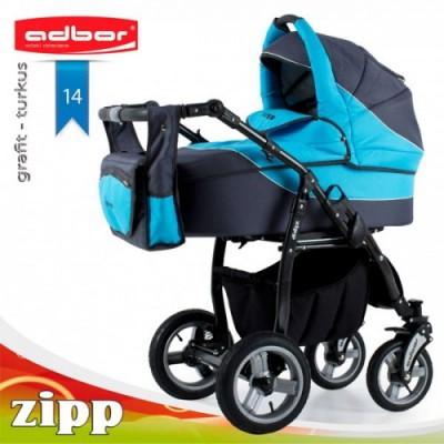 Комбинирана бебешка количка Adbor Zipp 2в1 - цвят синя 30138 -14