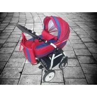 Бебешка количка Gusio Carrera 2в1 - малина и лилаво