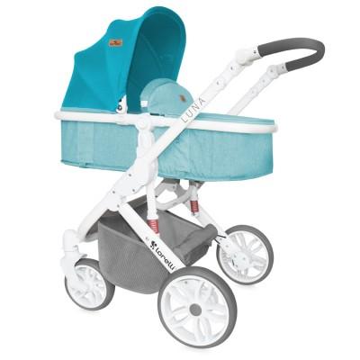 Бебешка количка LUNA 2в1 Lorelli 2017 - аквамарин 10020801741