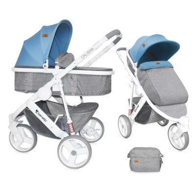 Бебешка количка Lorelli Calibra 2017 2в1 - сиво и синьо 10020781737