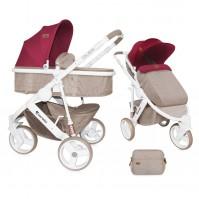 Бебешка количка Lorelli Calibra 2017 2в1 - малина