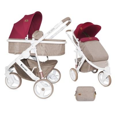 Бебешка количка Lorelli Calibra 2017 2в1 - малина 10020781742