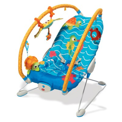 Музикален шезлонг Tiny Love Gymini Bouncer Under the Sea TL -0804
