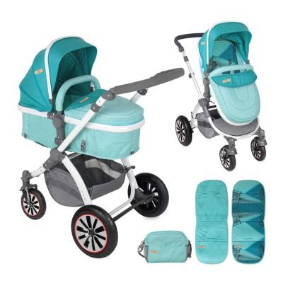 Бебешка количка AURORA Lorelli 2017 въздушни гуми - тюркоазена 10020951743