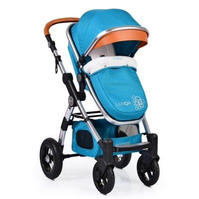 Комбинирана бебешка количка Cangaroo Luxor - синя
