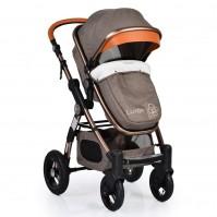 Комбинирана бебешка количка Cangaroo Luxor - кафява