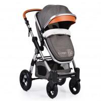 Комбинирана бебешка количка Cangaroo Luxor - сива