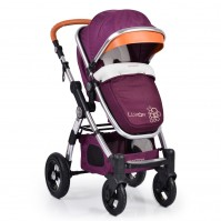 Комбинирана бебешка количка Cangaroo Luxor - лилава