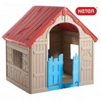 Сгъваема детска къща за игра Keter Wonderfold - бежова