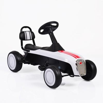 Детски картинг с педали Retro - бял К02