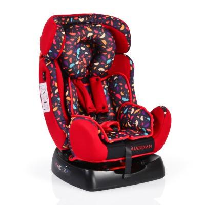 Столче за кола Guardian 0-25кг със сенник - червено