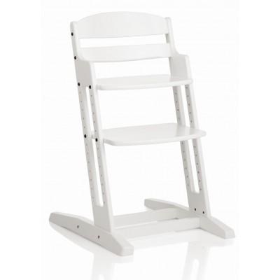 Дървено столче за хранене DanChair - бяло 1200080