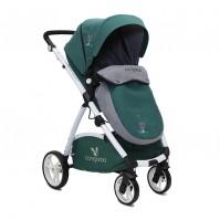 Комбинирана детска количка Stefanie 2в1 Cangaroo - зелена