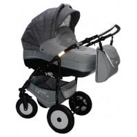 Комбинирана количка Zippy Lux - тъмно и светло сиво