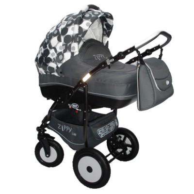 Комбинирана количка Zippy Lux - сиво с бяло SOJ016ZIP02