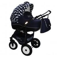 Комбинирана количка Zippy Lux - синя с точки