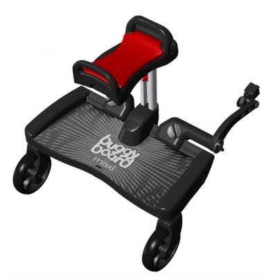 Универсална степенка за второ дете Макси със седалка - червено с черно
