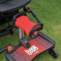 Универсална степенка за второ дете Макси със седалка - червено с червено