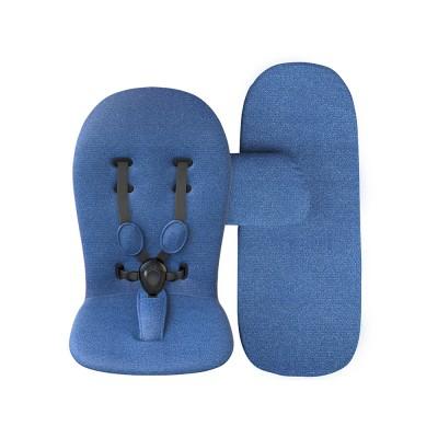 Starter pack Mima (матраци за седалка и кош) - denim blue