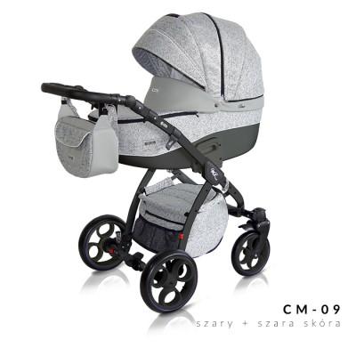Комбинирана количка Milu Kids Como 2в1 - сиво и черно 09 30533-09