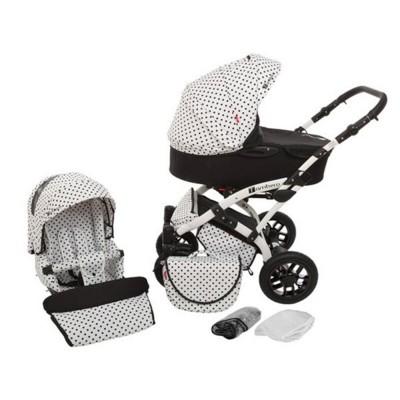 Бебешка количка Tambero 2 в 1 Тутек Black and White APD01 133358133