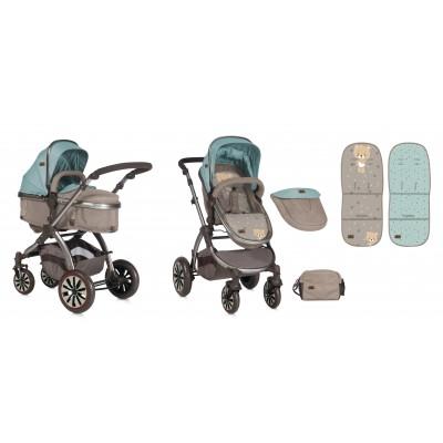 Бебешка количка AURORA Lorelli 2018 - BEIGE&GREEN BEAR 10020921846