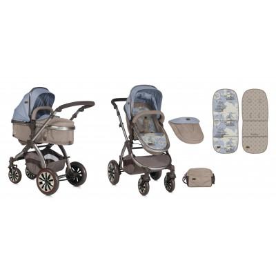 Бебешка количка AURORA Lorelli 2018 - BEIGE&BLUE MAPS 10020921847