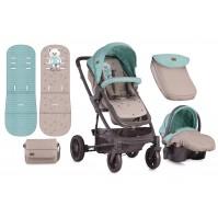 Комбинирана бебешка количка S500 Сет Lorelli 2018 - зелена