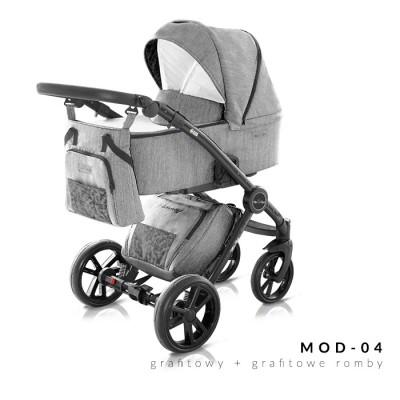Комбинирана бебешка количка Modern Milu Kids 2 в 1- цвят 04 30563