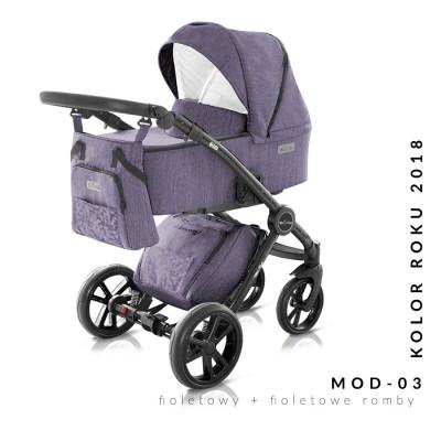 Комбинирана бебешка количка Modern Milu Kids 2 в 1 - цвят 03 30563