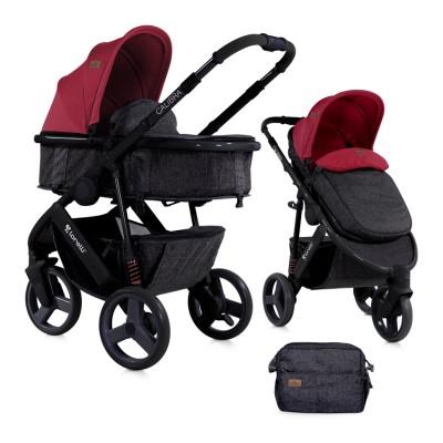 Бебешка количка Lorelli Calibra 2018 2в1 - Black&Red 10020781800
