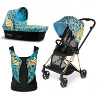 Бебешка количка Cybex MIOS Jeremy Scott Cherubs Blue 2в1 и YEMA TIE Jeremy Scott Cherubs Blue
