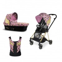 Бебешка количка Cybex MIOS Jeremy Scott Cherubs Pink 2в1 и YEMA Jeremy Scott Cherubs Pink