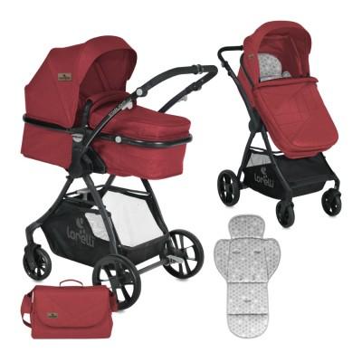 Детска количка STARLIGHT Lorelli 2018 с кош за новородено - RED 10021221865